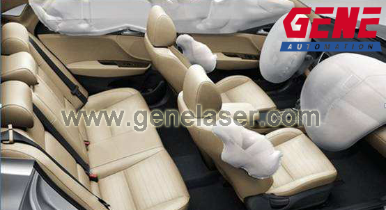GENE Automation Laser Scoring system for Airbag breaking points in aribag covers