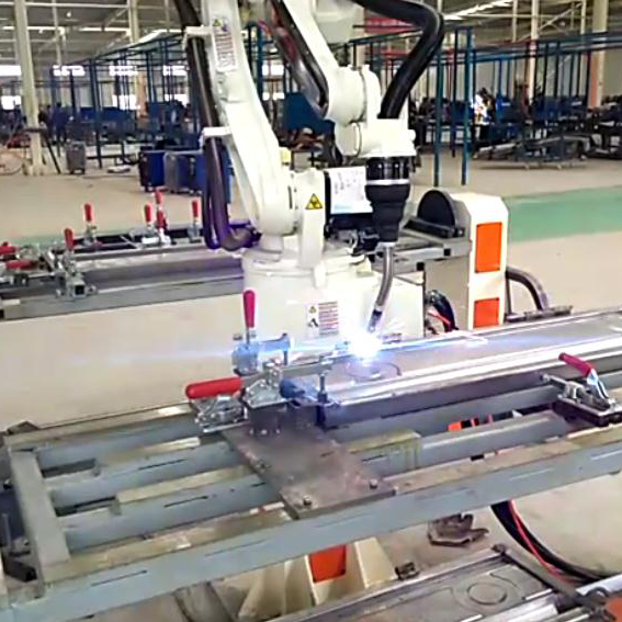 Suzhou GENE Automation E-bike arc welding robot-Etricycle robotic arc welding station